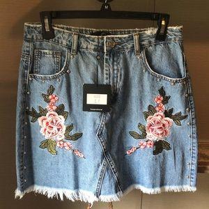 Misguided Denim Skirt